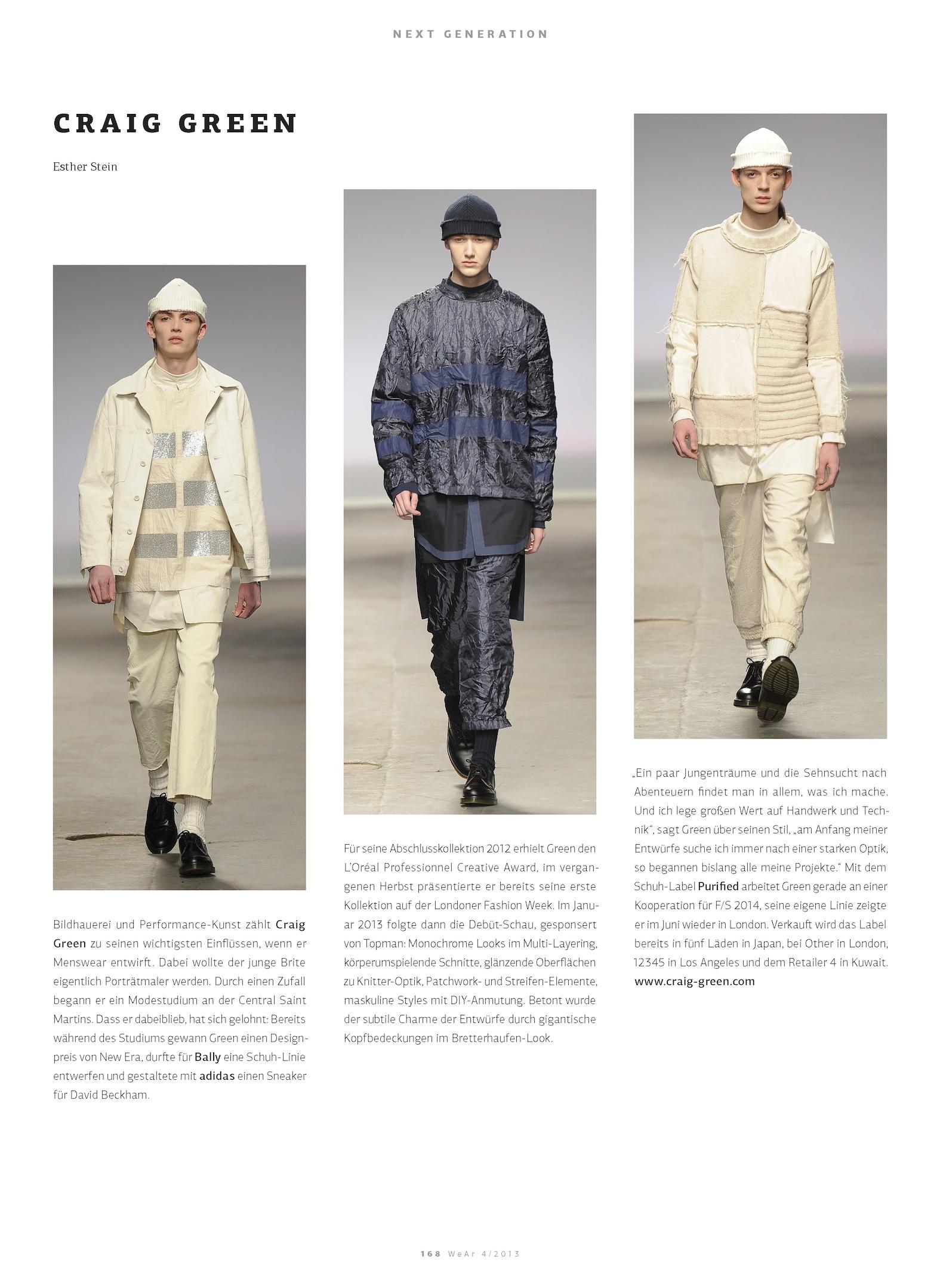 Men's Fashion: Craig Green, WeAr_04_2013